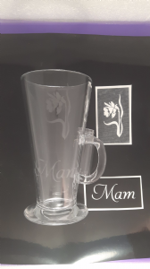 1 - 100  x  Mam word & daffodil stencils (mixed) for etching on glass   mum Mothers Day Welsh Wales
